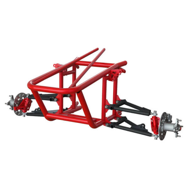 Front Suspension build in 3D drawing
