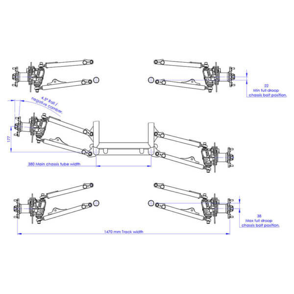 Front Suspension front view drawing
