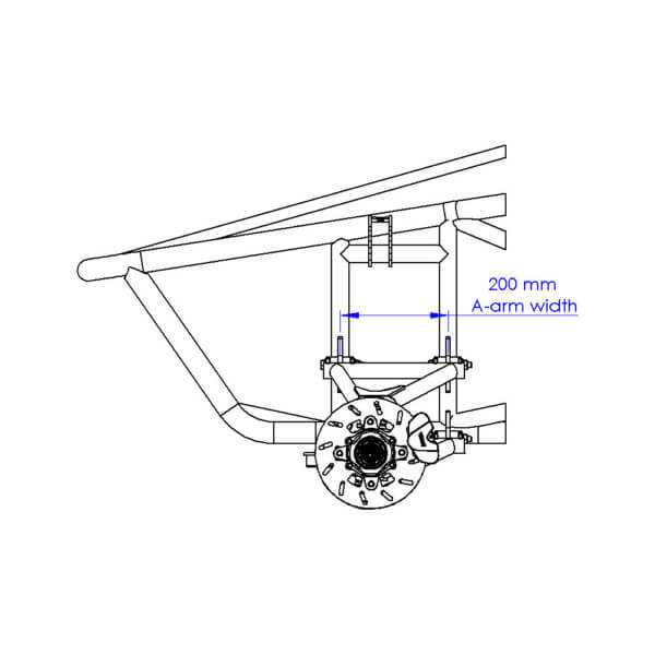 Front Suspension side view drawing