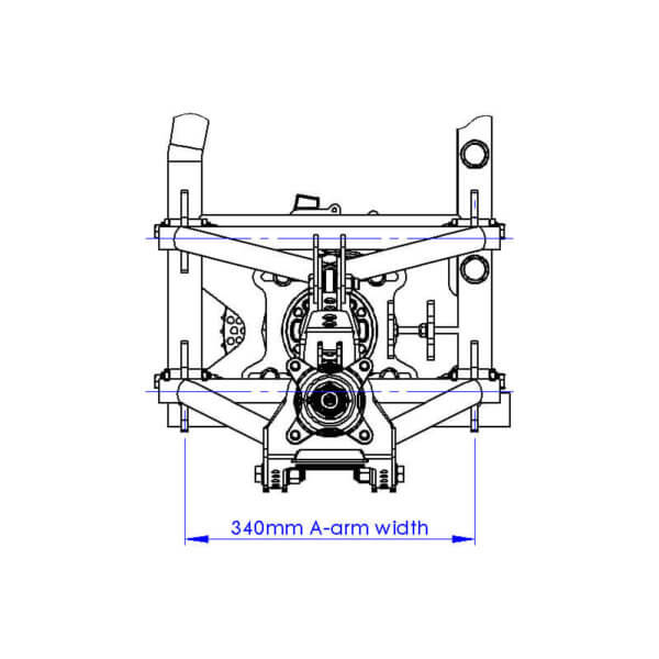 Rear Suspension side view drawing